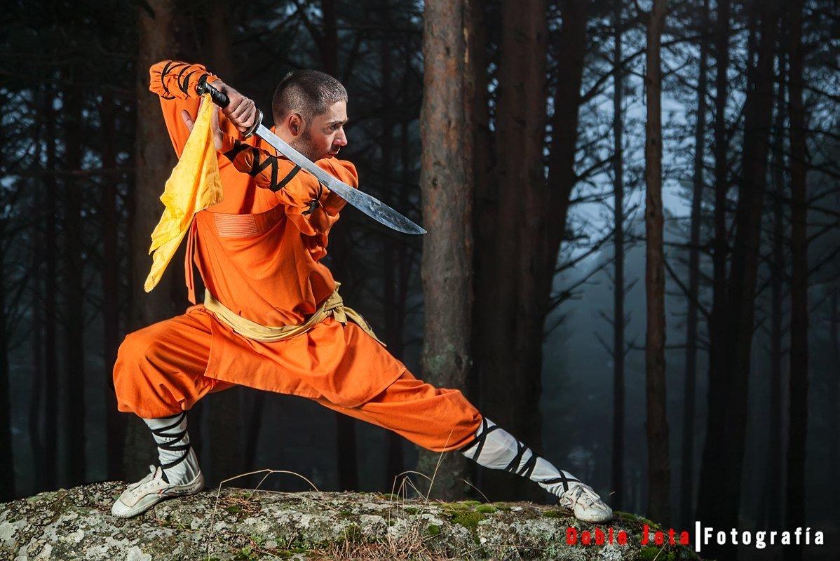 Sesión de Kung Fu con Gonzalo