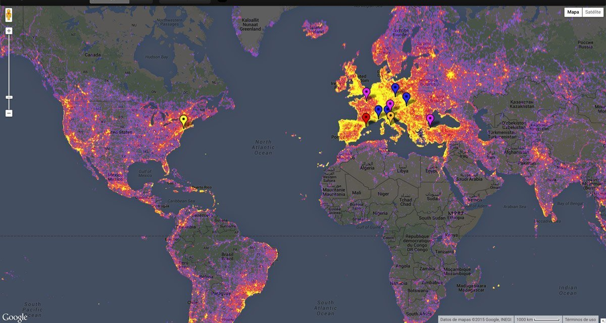 Mapa de lugares fotografiados