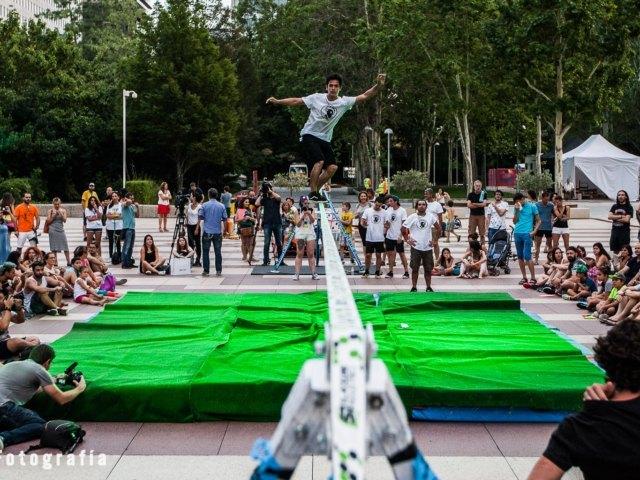 Exhibición de Slackline en Madrid