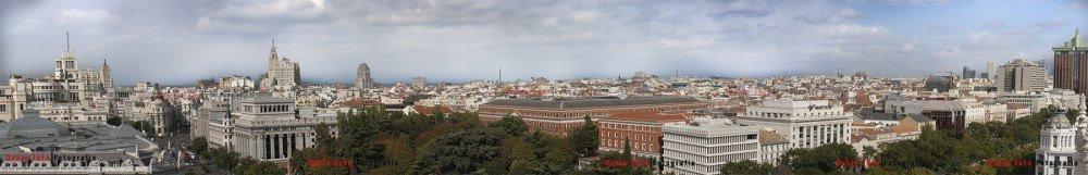 Panoramica desde el Ayto de Madrid