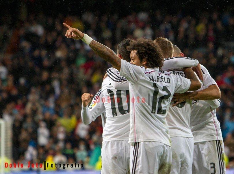Marcelo, celebrando el gol