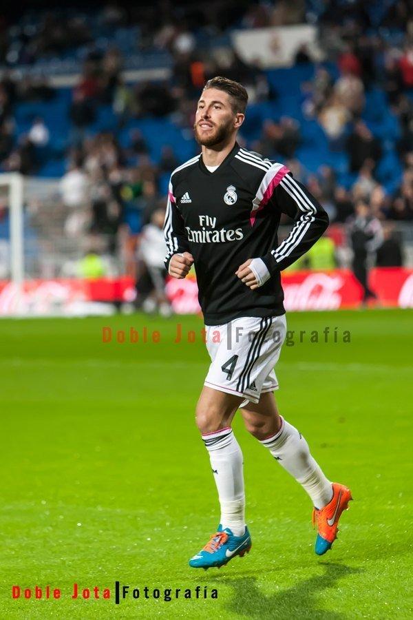 Sergio Ramos en el calentamiento