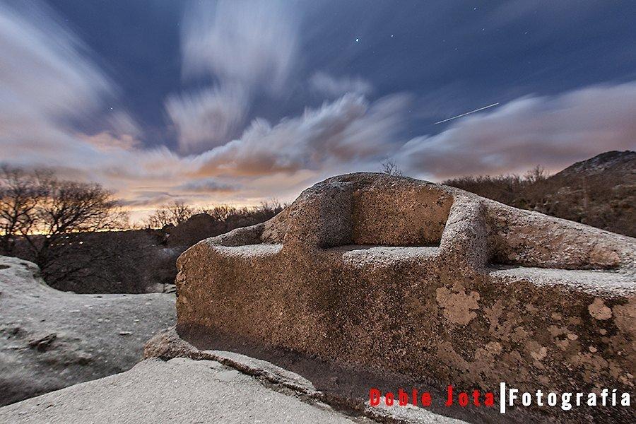 Fotografía nocturna silla de Felipe II