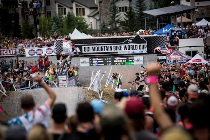 Josh Bryceland winning run. UCI MTB World Cup, Windham, USA