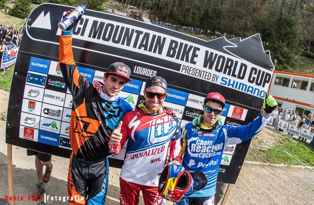 Podium World Cup Uci MTB Lourdes